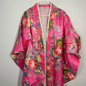 Large Pink Floral Kimono